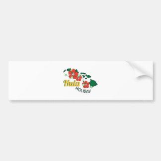Hula Holiday Bumper Stickers