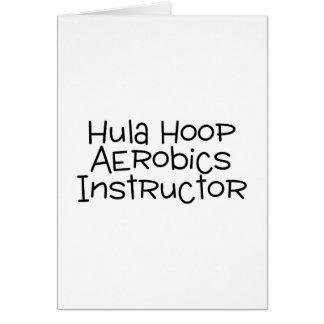 Hula Hoop Aerobics Instructor Card
