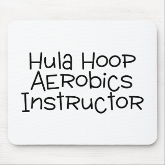 Hula Hoop Aerobics Instructor Mousepads