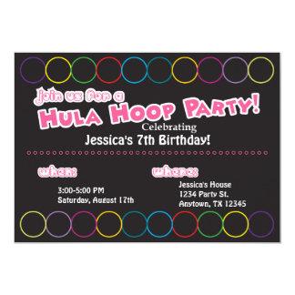 Hula Hoop Birthday Party Information Card