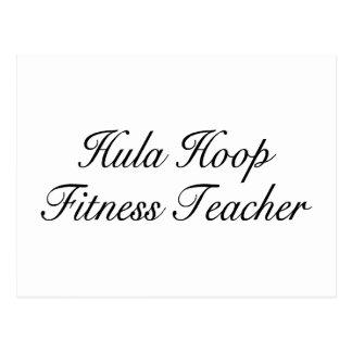 Hula Hoop Fitness Teacher Postcard