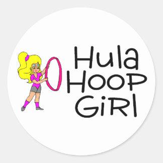 Hula Hoop Girl 2 Classic Round Sticker