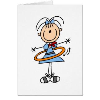 Hula Hoop Girl Card
