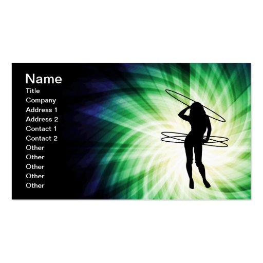 Hula Hoop Girl; Cool Business Card Template