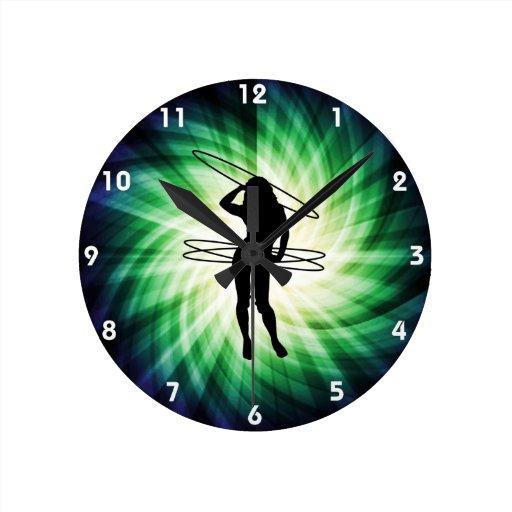 Hula Hoop Girl; Cool Clocks