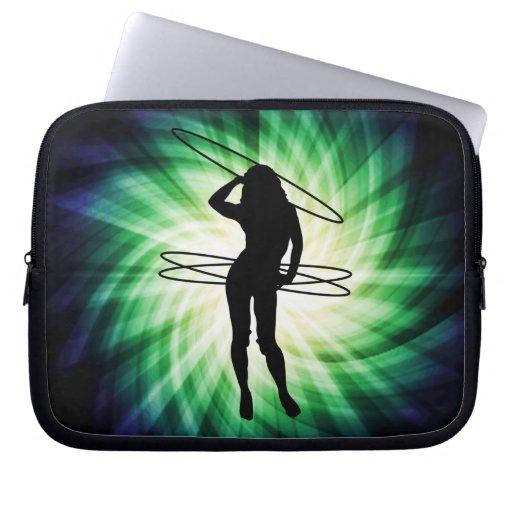 Hula Hoop Girl; Cool Laptop Sleeve