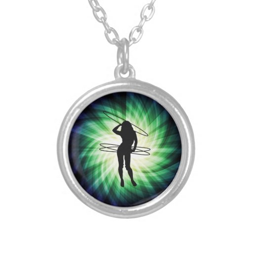 Hula Hoop Girl; Cool Personalized Necklace