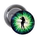 Hula Hoop Girl; Cool Pinback Buttons