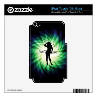 Hula Hoop Girl Cool iPod Touch 4G Decals