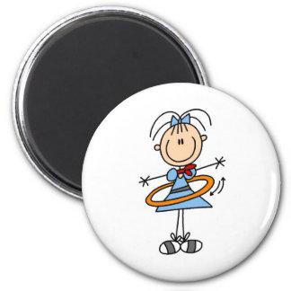Hula Hoop Girl Magnet