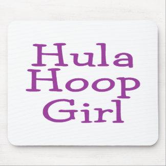 Hula Hoop Girl Mouse Pad