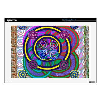 """Hula Hoop Girls Game Round Circle Design 17"""" Laptop Skins"""