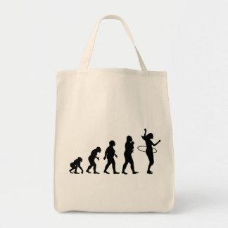 Hula Hoop Grocery Tote Bag