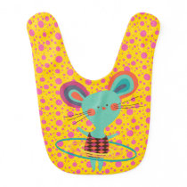 Hula Hoop Mouse Bib