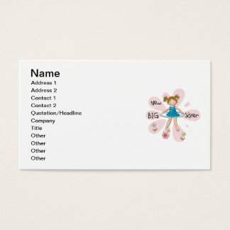 Hula Hoop New Big Sister Business Card