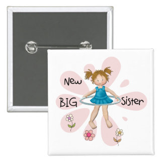Hula Hoop New Big Sister 2 Inch Square Button