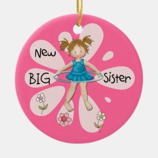 Hula Hoop New Big Sister Christmas Tree Ornaments