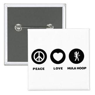 Hula Hoop Pinback Button