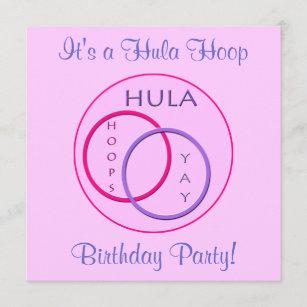 Hula Hoop Party Invitation