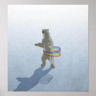 Hula-Hoop Polar Bear Poster