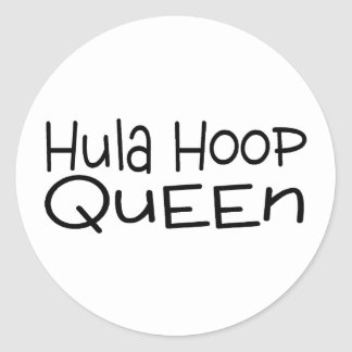Hula Hoop Queen Classic Round Sticker