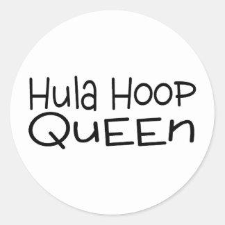 Hula Hoop Queen Classic Round Sticker