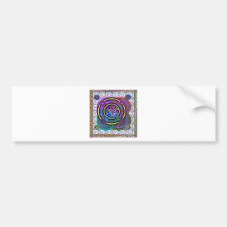 Hula Hoop Round Colorful Circles Bumper Sticker