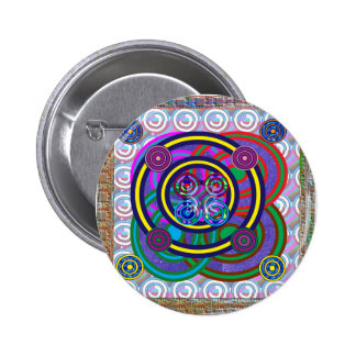 Hula Hoop Round Colorful Circles 2 Inch Round Button