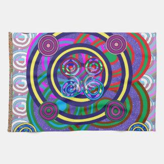 Hula Hoop Round Colorful Circles Hand Towels
