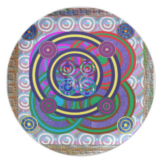 Hula Hoop Round Colorful Circles Plate