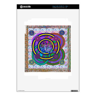 Hula Hoop Round Colorful Circles Skin For The iPad 2