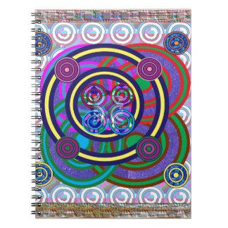 Hula Hoop Round Colorful Circles Spiral Notebook