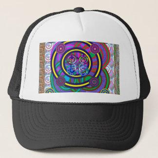 Hula Hoop Round Colorful Circles Trucker Hat