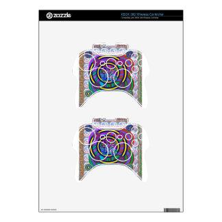 Hula Hoop Round Colorful Circles Xbox 360 Controller Skin