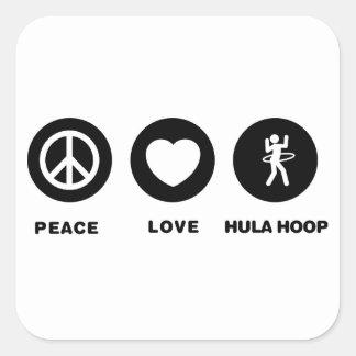 Hula Hoop Square Sticker