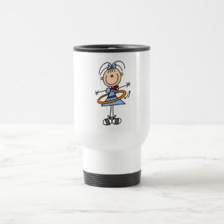 Hula Hoop Stick Figure T-shirts and Gifts Travel Mug