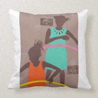 Hula Hoop Throw Pillow