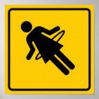 Hula Hoop Zone Highway Sign