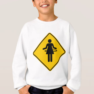 Hula Hoop Zone Highway Sign Sweatshirt