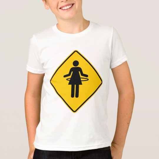 Hula Hoop Zone Highway Sign T-Shirt