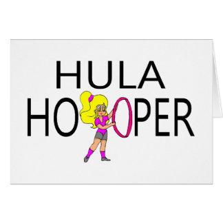 Hula Hooper Girl Card