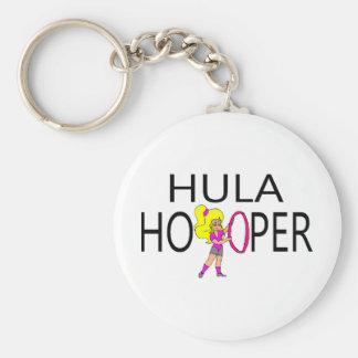 Hula Hooper Girl Keychain