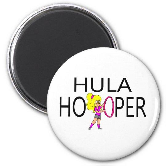 Hula Hooper Girl Magnet