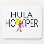 Hula Hooper Girl Mousepads
