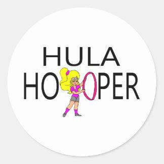 Hula Hooper Pegatina Redonda