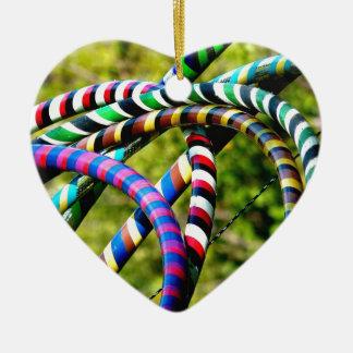 Hula Hooping en estilo Adorno Navideño De Cerámica En Forma De Corazón