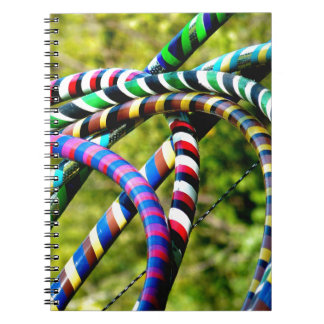 Hula Hooping en estilo Libros De Apuntes Con Espiral