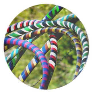 Hula Hooping en estilo Plato Para Fiesta