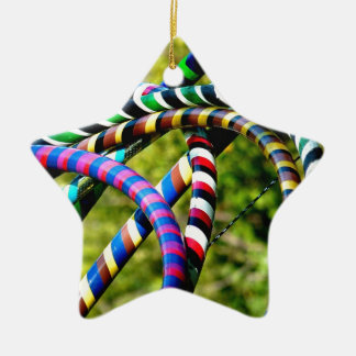 Hula Hooping in Style Ceramic Ornament