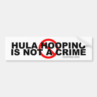 Hula Hooping no es un crimen Pegatina Para Auto
